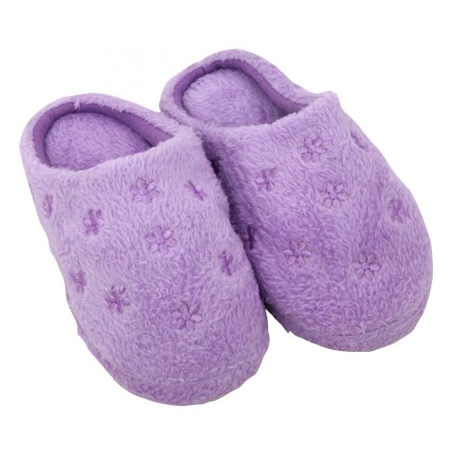 Cheap Childrens/Kids Girls Flower Design Slip-On Indoor Footwear/Slippers (B009OU981E)