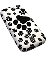 Custodia / Cover in Gomma / Gel / TPU per Samsung i9192 / i9190 Galaxy S4 mini - Animale Zampa Nero