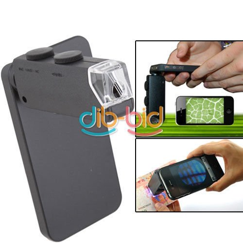 60X- 100X Zoom Led Cellphone Digital Microscope Micro Lens For Apple Iphone 4 4S