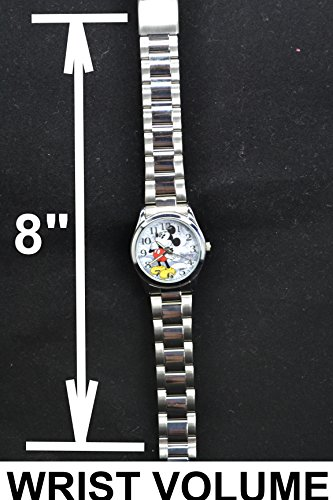 "Disney Unisex Watch Mickey Mouse ""Vintage"". Analog Large Display. Glow In The Dark Hands. 4"
