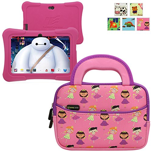 Lowest Prices! Evecase TABLET EXPRESS Y88X Kids Dragon Touch 7IN Android Tablet Sleeve, Cute Princes...