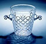 "Medallion ICE Bucket, 7.5"" H, This Is Full Lead (24%) Crystal Produced By Hand in Europe (Poland) By Experienced European Craftspeople. The Medallion Cut Is a Crisscross Diamond Cut Topped with a Wheat Cut with One Exception. There Is an Open, Shield-shaped Part of Each Piece That Is Left Uncut to Accommodate Engraving (Additional) Which Can Make It a Great Trophy, Corporate Gift or Presentation Piece."