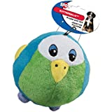 Ethical Pet Butterballs Dog Toy, 4-Inch, Birds, Assorted