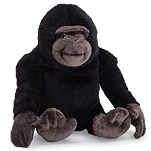 "4 X Gund Black Gorilla 7"" Beanbag Plush by Gund"
