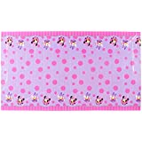 Minnie Mouse Bowtique Plastic Table Cover, 54 in x 96 in, Party Supplies