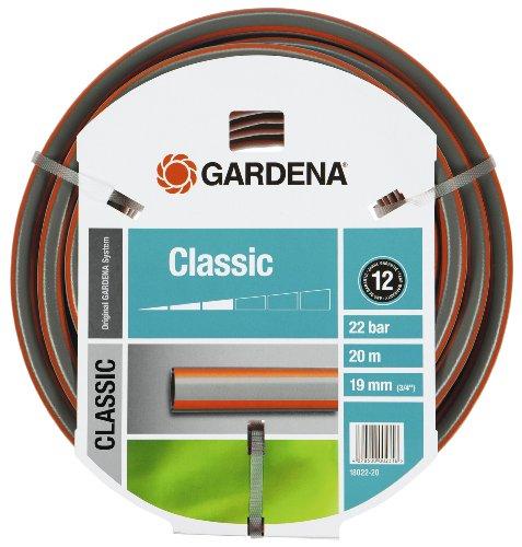 Gardena Classic Gartenschlauch 19 mm, 3/4 Zoll, 20 m, mehrfarbig, 39 x 39 x 13 cm, 18022-20