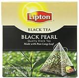 Lipton Black Tea, Black Pearl Pure Long Leaf 20ct, 1.4 OZ (Pack of 6)