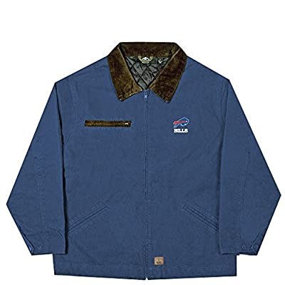NFL Buffalo Bills Tradesman Canvas Quilt Lined Jacket, Navy, XX-Large