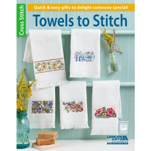 Leisure Arts Towels To Stitch Book front-876010