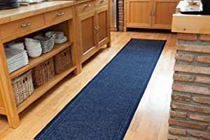 Concorde Hardwearing Made To Measure Navy Hallway Entrance Runner