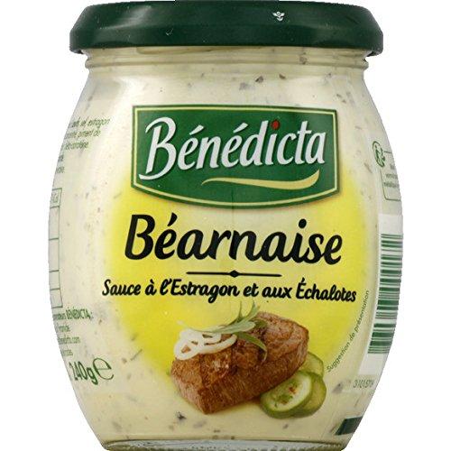 Bénédicta - Sauce béarnaise, à l'estragon et aux échalotes - Le pot de 240g - (pour la quantité plus que 1 nous vous remboursons le port supplémentaire)
