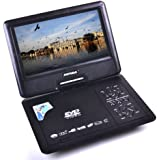 DVDP070t Portable DVD Player (Card Reader + USB) with 7.8 inch LCD Screen for Travel Car Home
