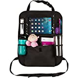 Back-of-Seat-Car-Organizer-with-Holder-for-Touch-Screen-iPad-and-Tablets-Stylish-Durable-and-High-Quality