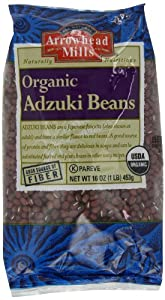 Arrowhead Mills Organic Adzuki Beans, 1-Pound Unit (Pack of 6)