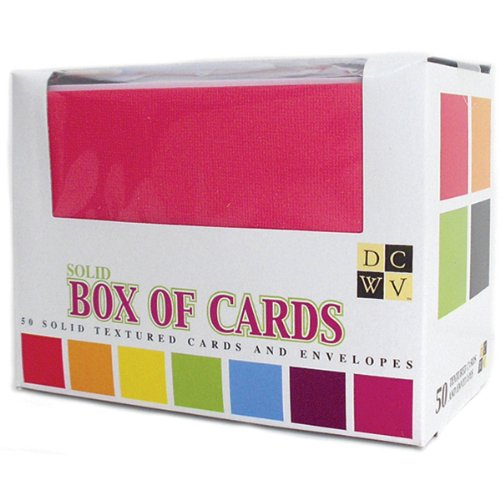 Review Diecuts with A View Box of Cards and Envelopes, Assorted Solids A2 Size, 50/Pkg