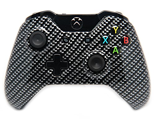 """Black Carbon"" Xbox One Custom Controller with Glossy Finish"