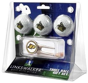 Purdue Boilermakers 3 Golf Ball Gift Pack with Cap Tool by LinksWalker