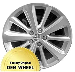 TOYOTA HIGHLANDER 19X7.5 10 SPOKE Factory Oem Wheel Rim- MACHINED FACE SILVER – Remanufactured