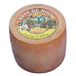 Original AOC Tete de Moine Queso suizo entero Cabeza de monje aprox. 900 g