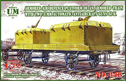 1/72 37mm anti-aircraft cannon 2 gate equipped with armored wagons Plastic UU72648 (Cannon Air Filter compare prices)