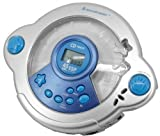 Soundmaster KCD-25 Kids Blue Singalong CD Player with Mic Headset