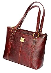StonKraft Womens Handbag (Brown) (LthrShldrTanBag26)