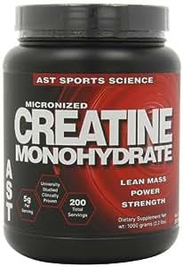 AST Sports Science Micronized Creatine Monohydrate, 2.2 lbs (1000 g)