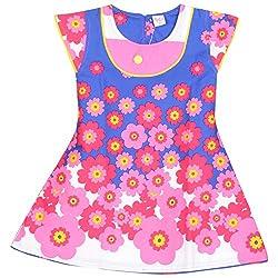 Rush Me Baby Girls' Dress (S.R.1019_7 Years, 7 Years, Pink)