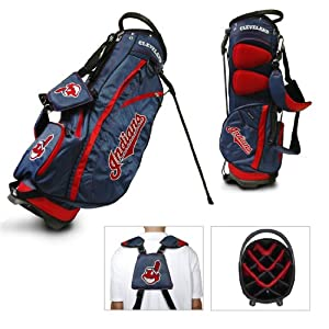 MLB Cleveland Indians Fairway Stand Golf Bag, Navy by Team Golf