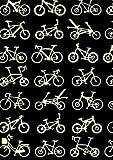 【そそぎ染めで染めた本格手拭い】 手拭 自転車 黒 719