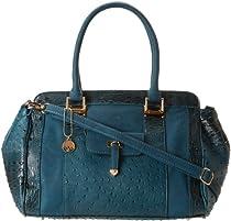 BIG BUDDHA Jchaz Satchel Top Handle Bag,Blue,One Size