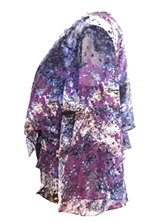 ALEX APPAREL GROUP INC Pretty Floral Twinset Tiered Shell and Open Bolero-MULTI-L