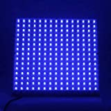 LEDwholesalers 2501BU Blue 225 LED 13.8 Watt Square Grow Light Panel 110 Volt