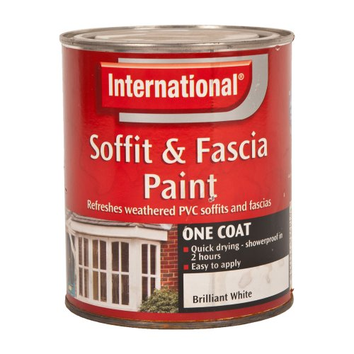 International Soffit & Fascia Paint - Brilliant White - 750ml