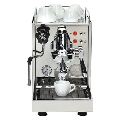 ECM Classika II Espressomaschine mit Wassertank, Edelstahl poliert, Kaffeevollautomat, Kaffeemaschine thumbnail