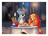 Puzzle 60 pieces,Romantic dinner/ Lady and the Tramp