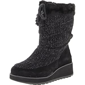 Monumental style and comfort come with the VISIONEERS knit slouch boot from SKECHERS.