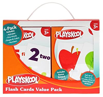 Playskool Flash Cards Value Pack - Alphabet/First Words/Shapes & Colors/Numbers by Playskool
