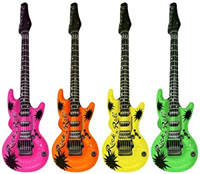 4 Inflatable Guitar Party Accessories(