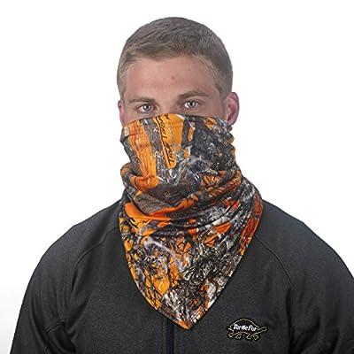Turtle Fur Camo Bandana Face Shield, Micro Fleece Lined Neck Warmer
