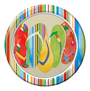 "Day At The Beach 9"" Lunch Paper Plates 96ct"