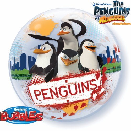 22 Inch The Penguins Of Madagascar 3D Bubble Balloons