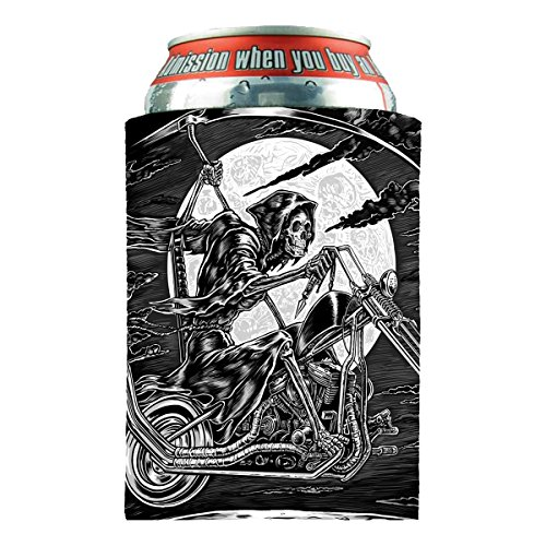 Hot Leathers, Officially Licensed High Quality, Drink Can Wrap Koozie Sleeve (Scroll, Biker For Life) (Beer Trash Can compare prices)