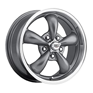 17 inch 17×7 Rev 100S silver wheel rim; dual drilled 5×4.5 5×114.3 / 5×115 with a +0 offset. Part Number: 100S-7706500