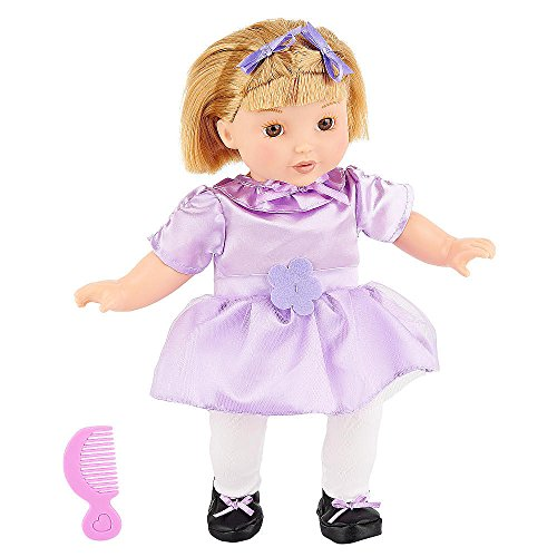 You & Me Friends 14 Inch Doll - Blonde Bob (Purple Dress) front-889646