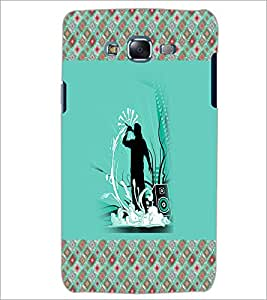PrintDhaba Music D-3264 Back Case Cover for SAMSUNG GALAXY J7 (Multi-Coloured)