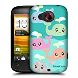 Head Case Designs Polka Kawaii Whales Protective Snap-on Hard Back Case Cover for HTC Desire C
