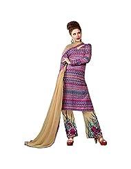 Pink And Beige Casual Cotton Salwar Kameez