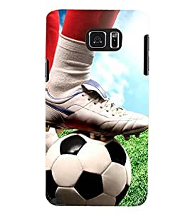 Printvisa Footballer Starting The Action Back Case Cover for Samsung Galaxy Note 5 N920