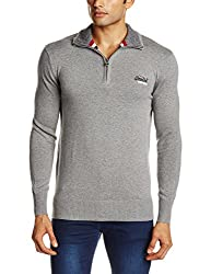 Superdry Men's Cotton  Sweater (5054126925872_M61LY020_Large_Flannel)